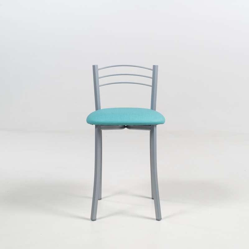 tabouret bas de cuisine avec assise rembourr e et structure m tal alu yolanda 4. Black Bedroom Furniture Sets. Home Design Ideas