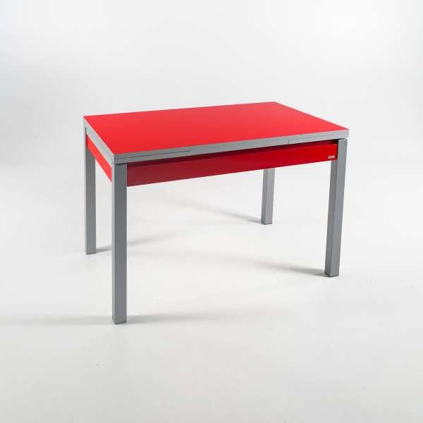 Petite table de cuisine extensible en formica avec tiroir for Petite table de cuisine avec tiroir