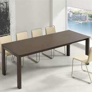Table rectangulaire extensible avec plateau en dekton et pieds en métal - Evento