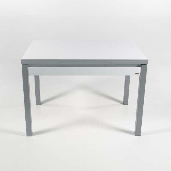 petite table de cuisine extensible en formica avec tiroir pieds alu iris 4 pieds tables. Black Bedroom Furniture Sets. Home Design Ideas