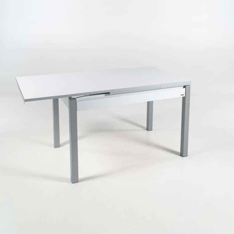 Petite table de cuisine en m lamin avec allonges et for Table cuisine 120x80