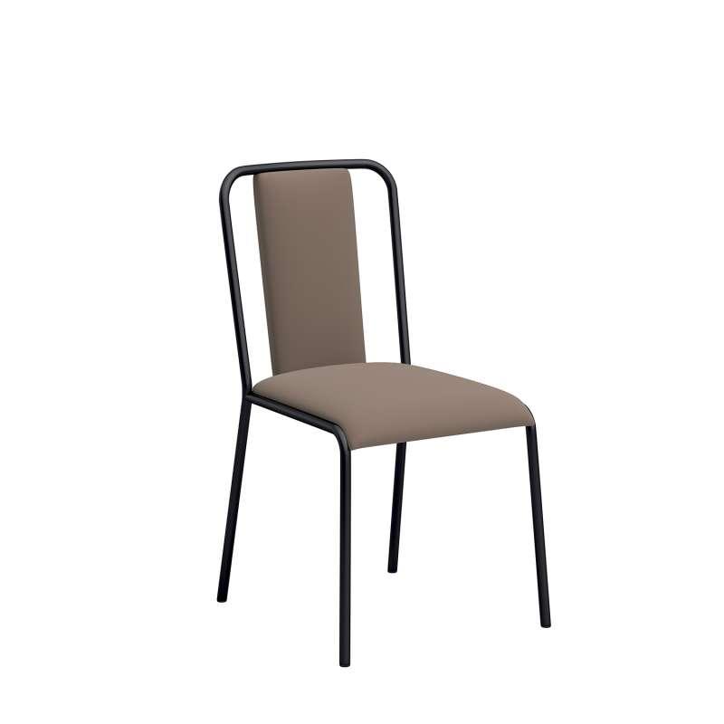 chaise de cuisine contemporaine rembourr e en synth tique et m tal real 4 pieds tables. Black Bedroom Furniture Sets. Home Design Ideas