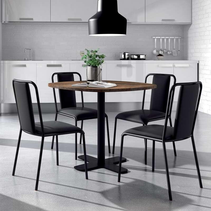 chaise de cuisine contemporaine rembourr e en synth tique et m tal real 4. Black Bedroom Furniture Sets. Home Design Ideas