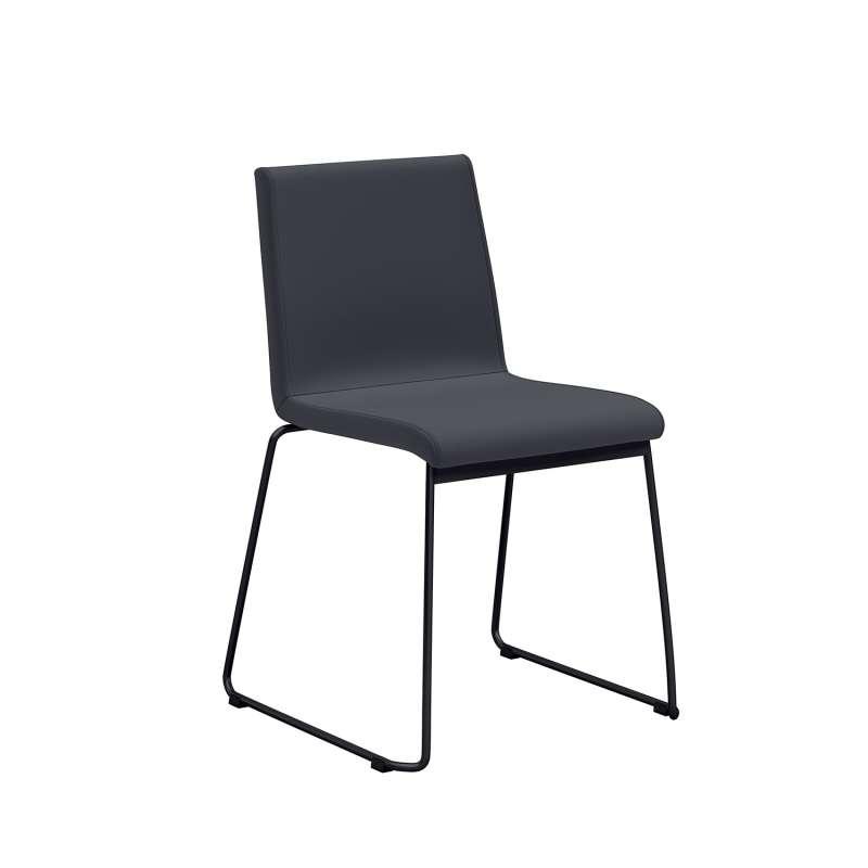 chaise moderne pieds en m tal forme tra neau et coque rembourr e como 4 pieds tables. Black Bedroom Furniture Sets. Home Design Ideas