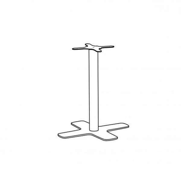 pied central de table en m tal avec base en croix spinner 4. Black Bedroom Furniture Sets. Home Design Ideas