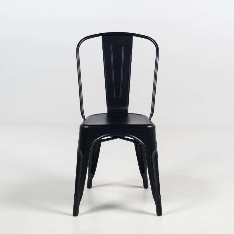 Chaise Vintage Industrielle En Mtal Noir Dpoli