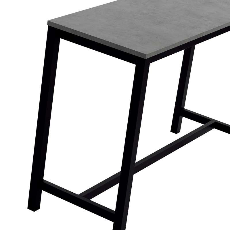table haute de cuisine hauteur 90 cm en stratifi et m tal 160 x 60 cm vienna 4. Black Bedroom Furniture Sets. Home Design Ideas
