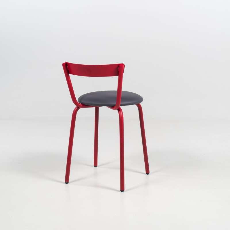 chaise de cuisine made in france rouge et grise xoxo 6 chaise de cuisine moderne - Chaise Cuisine Moderne
