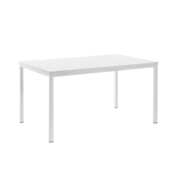 table snack rectangulaire plateau stratifi et pieds en. Black Bedroom Furniture Sets. Home Design Ideas
