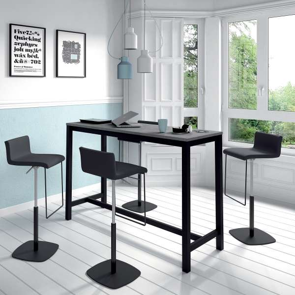 table haute de cuisine hauteur 110 cm en stratifi et m tal 160 x 60 cm vienna 4. Black Bedroom Furniture Sets. Home Design Ideas