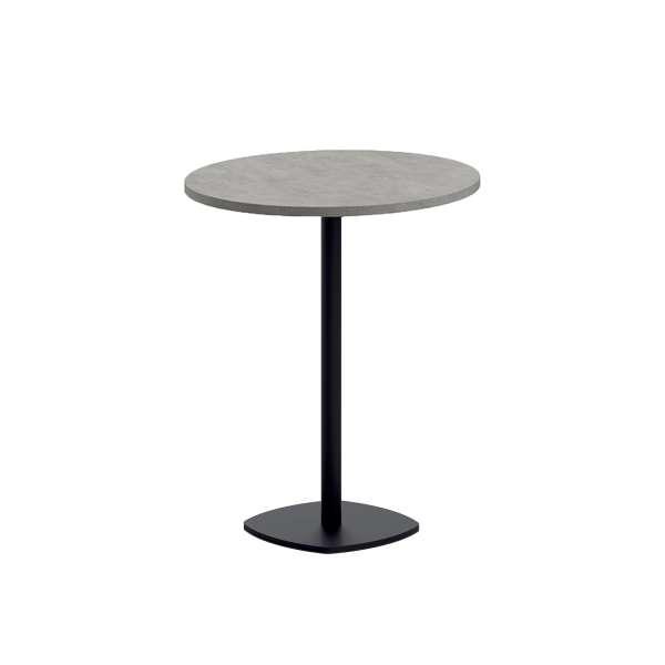 table snack de cuisine ronde en stratifi diam tre 70 cm avec pied central circa 4 pieds. Black Bedroom Furniture Sets. Home Design Ideas