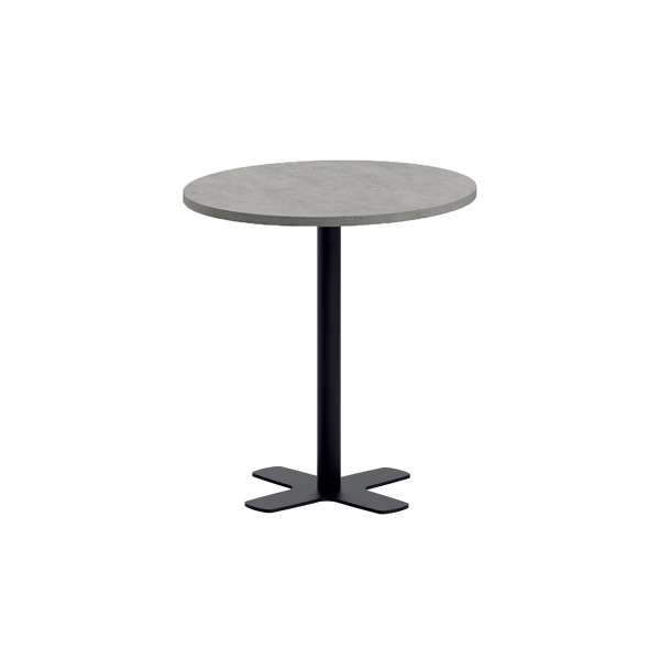 table snack ronde pour cuisine en stratifi avec pied central spinner 4 pieds tables. Black Bedroom Furniture Sets. Home Design Ideas