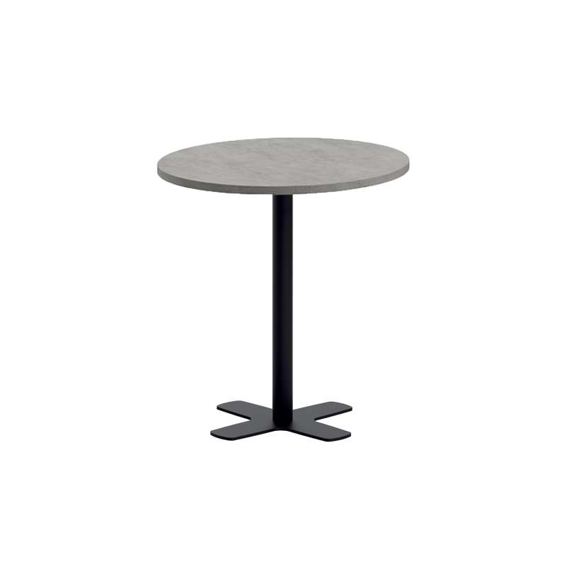 table snack ronde pour cuisine en stratifi avec pied central spinner 4. Black Bedroom Furniture Sets. Home Design Ideas