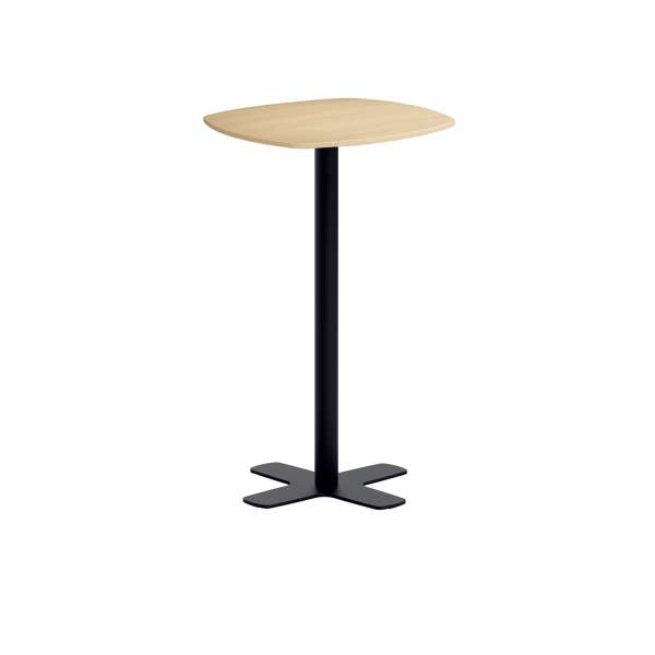 petite table de bar en stratifi aux coins arrondis avec pied central spinner 4. Black Bedroom Furniture Sets. Home Design Ideas