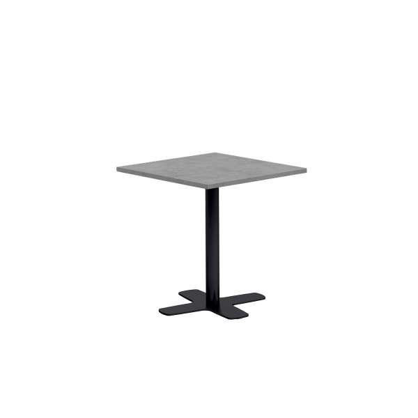 table de cuisine carr e en stratifi avec pied central spinner 4. Black Bedroom Furniture Sets. Home Design Ideas