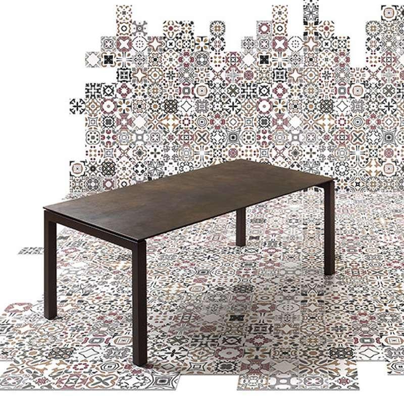 Table mobliberica extensible en c ramique pour salle manger julia 4 for Salle a manger en espagnol