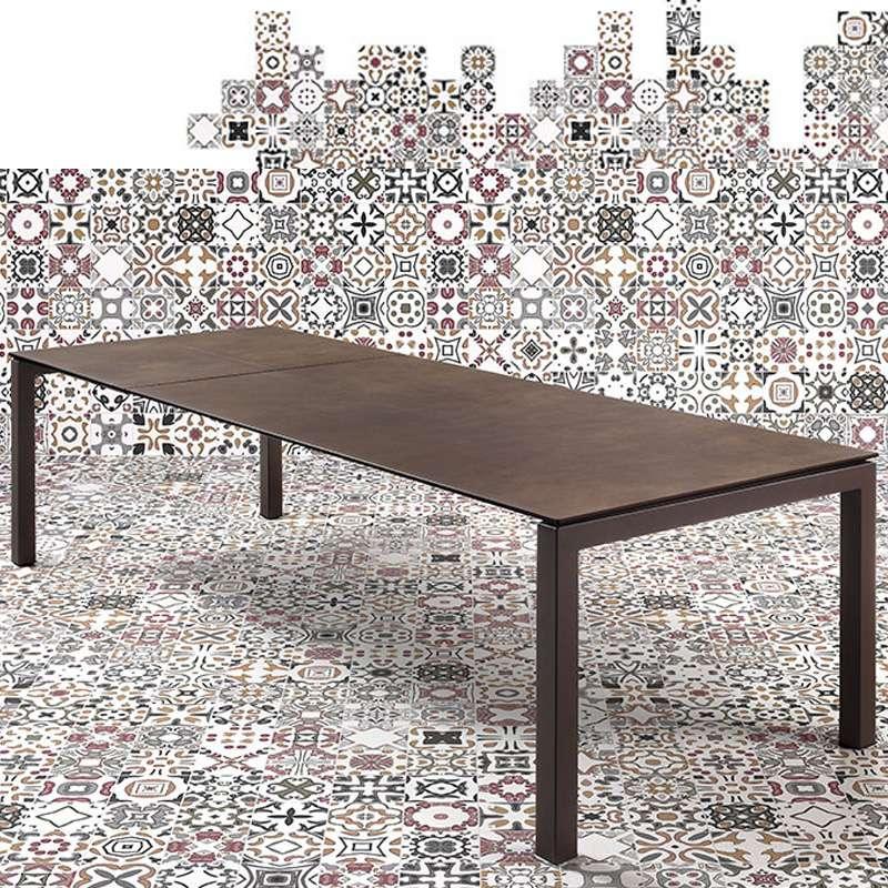 Table mobliberica extensible en c ramique pour salle for Table salle a manger ceramique extensible