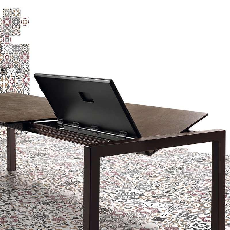 Table mobliberica extensible en c ramique pour salle - Table salle a manger plateau ceramique ...