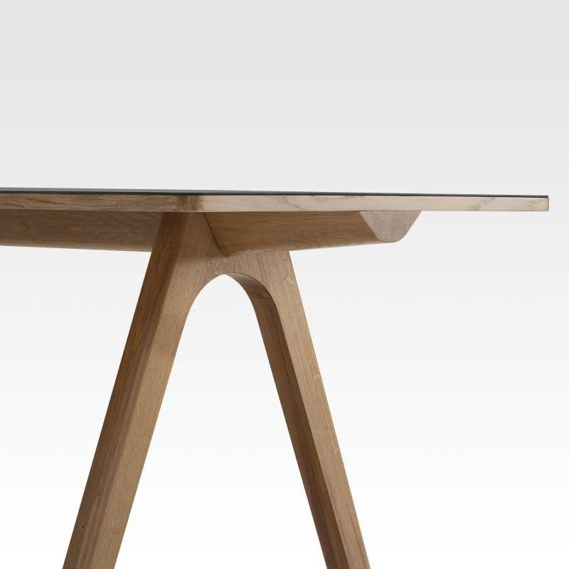 Table de designer en céramique et bois de fabrication française ...