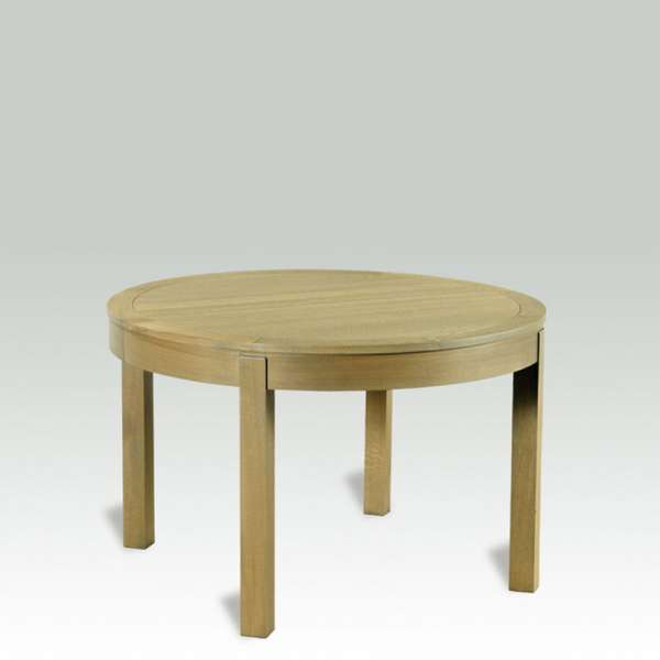 Table en ch ne massif ronde extensible moderne mr 4 for Table ronde en chene