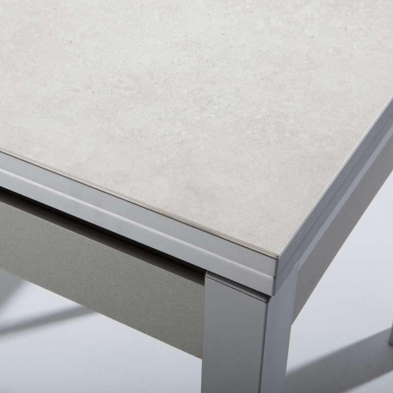 Stunning table de jardin aluminium iris images amazing for Table extensible 4 pieds