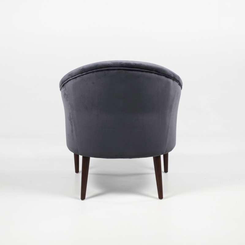 Fauteuil De Salon Cocooning En Tissu Et Bois Marron Fonc Oslo 4 Pieds Tables Chaises Et