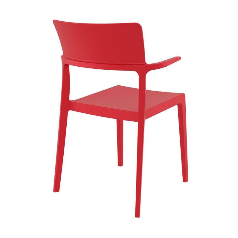 Chaise En Plastique Rouge