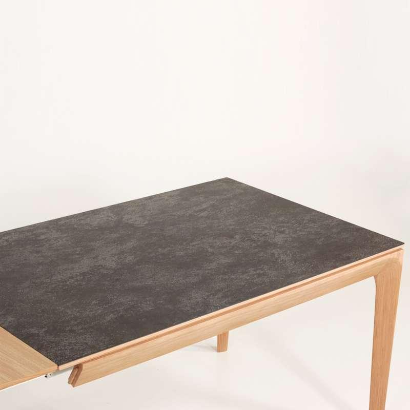 Table de salle manger fran aise extensible en c ramique buzz 4 pieds tables chaises et - Table salle a manger ceramique extensible ...