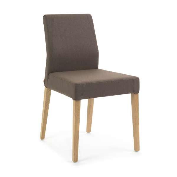 Chaise de séjour en tissu avec pieds en bois Ken Mobitec