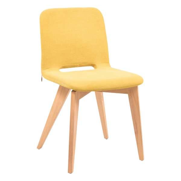 Chaise scandinave en tissu avec pieds en bois - Pamp Mobitec®