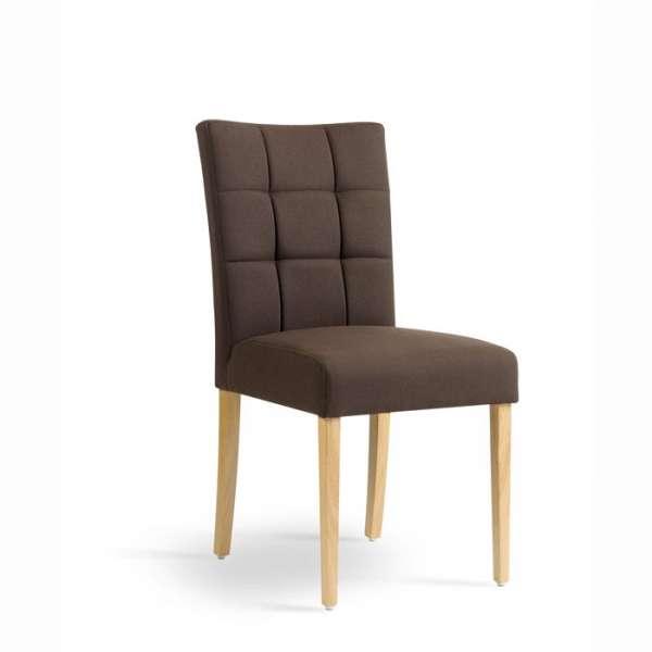 chaise mobitec en tissu et pieds en bois dossier piqu carr 4 pieds tables chaises et. Black Bedroom Furniture Sets. Home Design Ideas