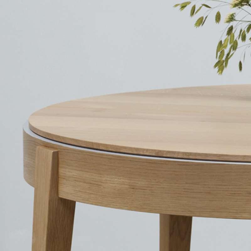 Table Ronde En Bois Massif De Fabrication Française Avec Allonges - Table ronde bois massif