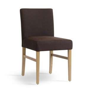 Chaise Mobitec de salle à manger marron en tissu et bois naturel - Sharon