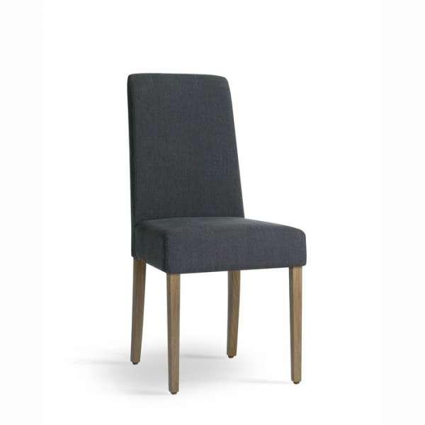 Chaise Mobitec de salle à manger en bois et tissu - Tom