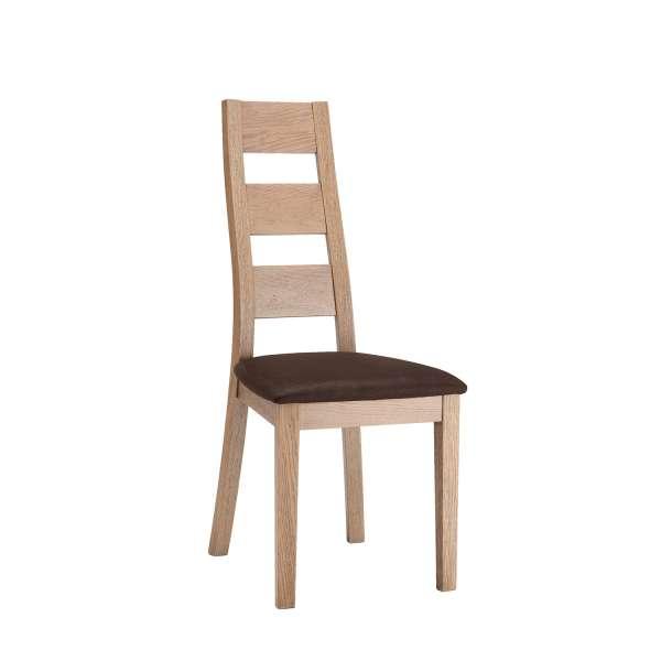 Chaise de salle à manger fabriquée en France en bois massif et synthétique - Lyséa