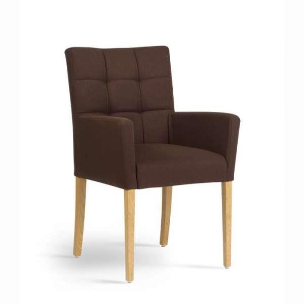 Fauteuil de salon contemporain en bois et tissu Carré Mobitec