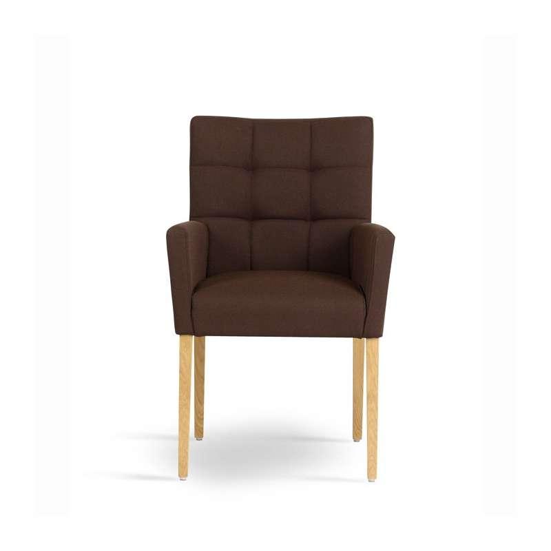 Fauteuil de salon contemporain en bois et tissu - Carré Mobitec®   4 ...