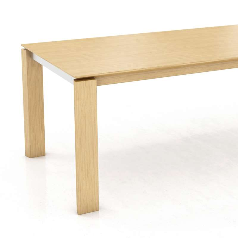 table rectangulaire avec rallonge en bois oxford mobitec 5 - Table Contemporaine