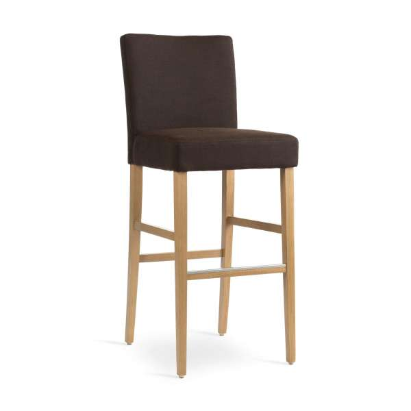 tabouret de bar en bois et tissu shawn mobitec 4 pieds tables chaises et tabourets. Black Bedroom Furniture Sets. Home Design Ideas