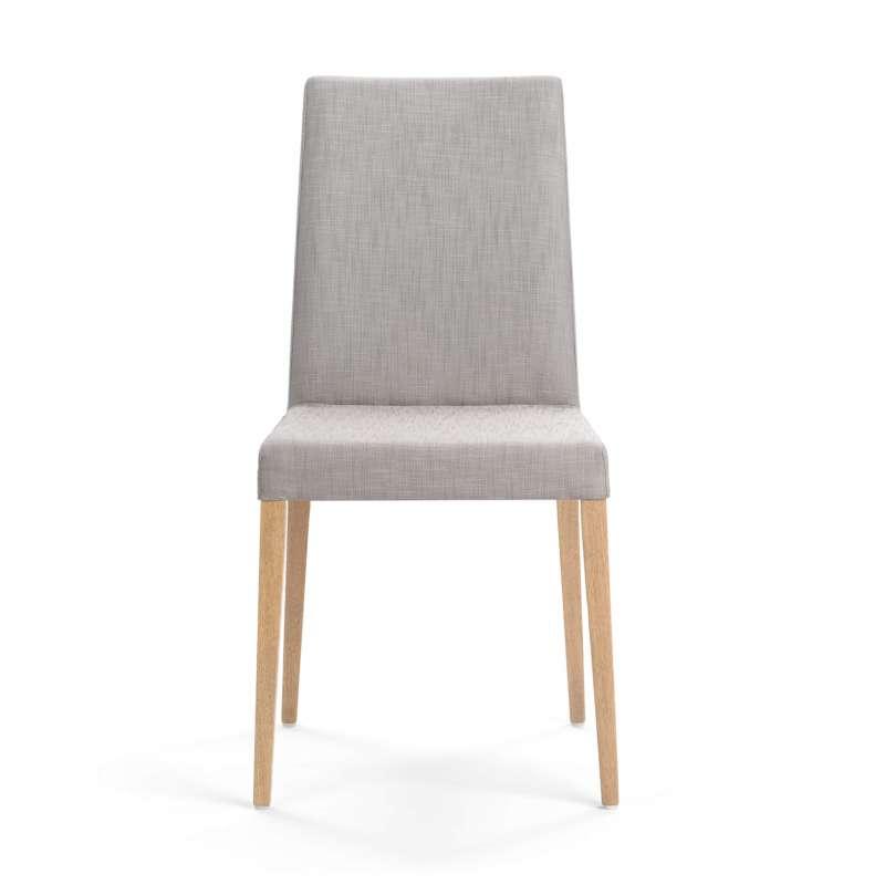 Chaise de salle manger en tissu et pieds en bois slim for Chaises tissu salle manger