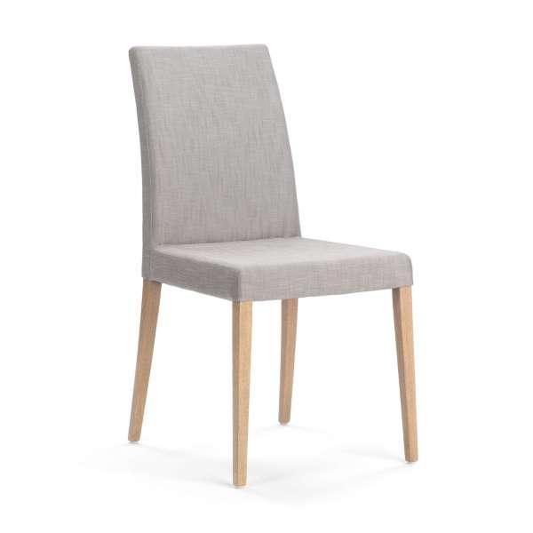 chaise de salle manger en tissu et pieds en bois slim mobitec 4 pieds tables chaises. Black Bedroom Furniture Sets. Home Design Ideas