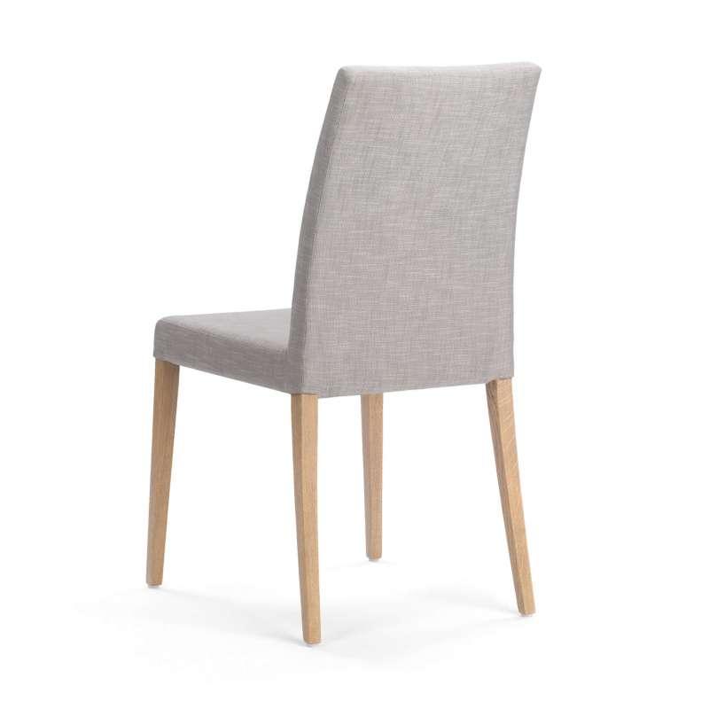 Chaise de salle à manger en tissu et pieds en bois - Slim Mobitec ...