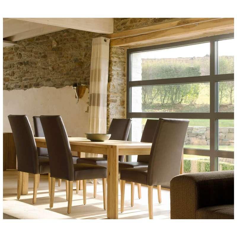 chaise de salle manger en htre massif et synthtique noir vento mobitec
