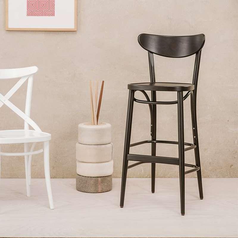 tabouret bistrot en bois 4. Black Bedroom Furniture Sets. Home Design Ideas