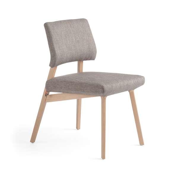 Chaise Style Scandinave En Tissu Et Bois Lindsay Mobitec 4