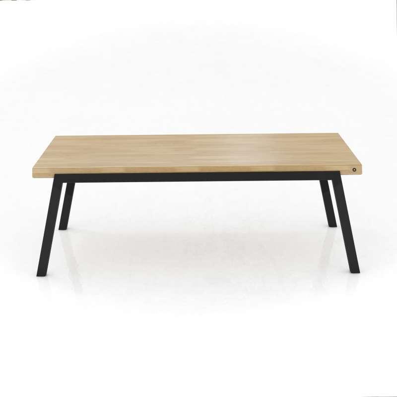 Table En Bois Moderne table moderne en bois extensible avec pieds en métal - london