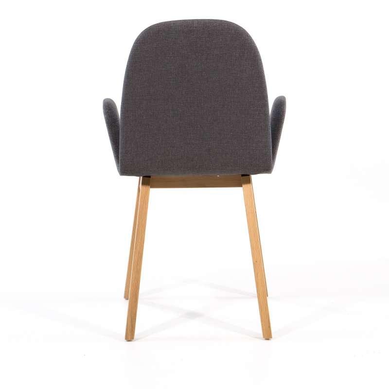 fauteuil scandinave avec pieds bois et tissu gris fonc puccini mobitec with  chaise scandinave gris anthracite 59caf0e7a60c