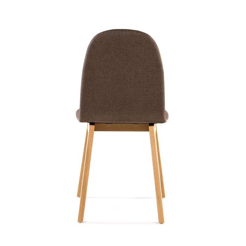 Chaise scandinave en bois et tissu Puccini Mobitec