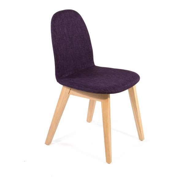 chaise scandinave en bois et tissu puccini mobitec 4. Black Bedroom Furniture Sets. Home Design Ideas