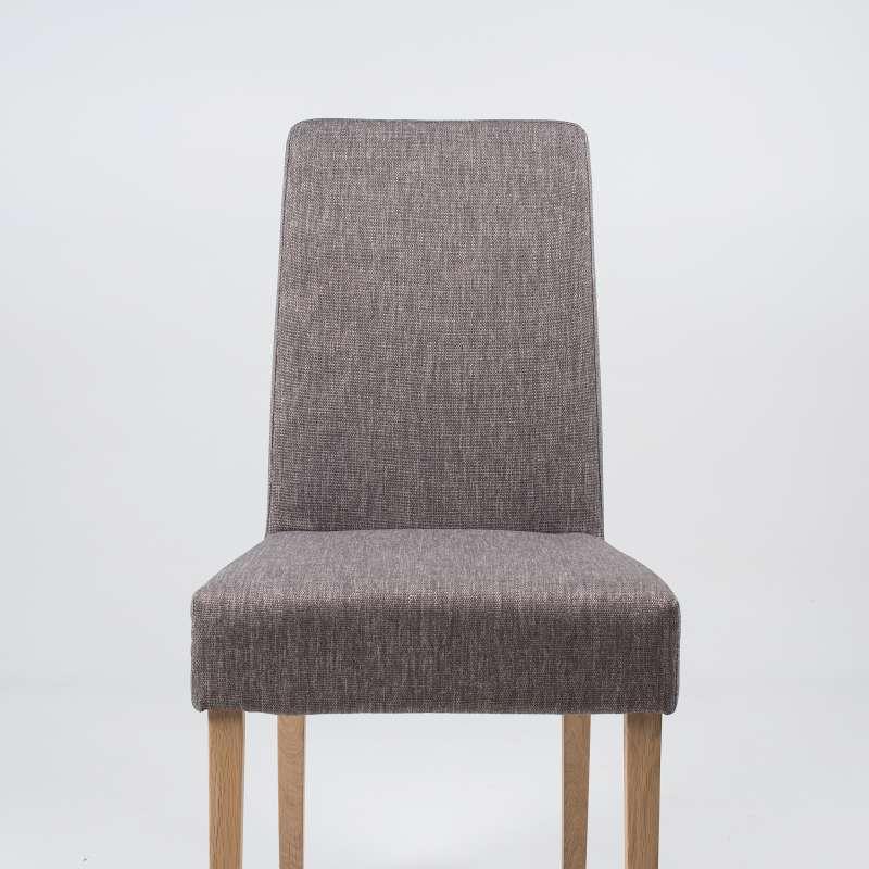 chaise de salle manger en tissu et bois massif gaby mobitec 4 pieds tables chaises et. Black Bedroom Furniture Sets. Home Design Ideas